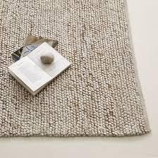 wool rug mini pebble wool jute rug natural ivory west elm