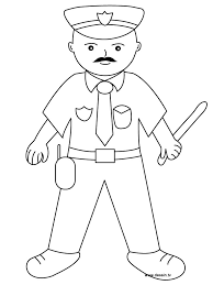 police officer outline collection 55