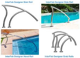 designer pool ladders u0026 rails intheswim pool blog
