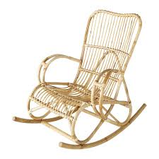 magasin de rotin rocking chair en rotin louisiane maisons du monde