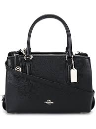 20 Classic Black And White Coach Swagger Black 27 Coach Embroidered Shoulder Bag Femme Sacs