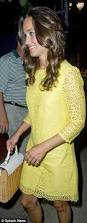 pippa middleton u0027s 50 dress lace yellow shift she wore in new