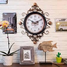 antique style home decor large retro digital metal wall clock home decor iron wall clock