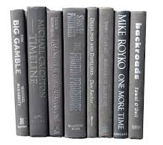 set of 8 black decorative hardcover books centerpiece instant
