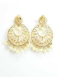 punjabi jhumka earrings punjabi jhumka kundan earrings lotan silver metal earrings