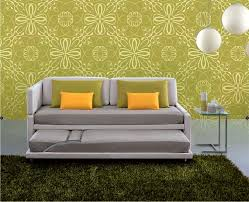 contemporary sofa fabric 2 seater with trundle bed