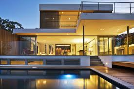 Ultra Modern Houses Ultra Modern Exterior House Design With Large Glass Window And