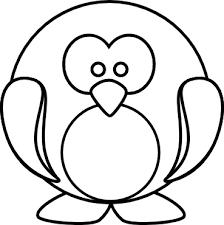 penguin outline clip art clker vector clip art