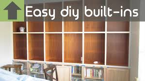 cheap and easy diy built in shelves youtube