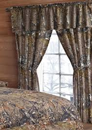 Curtain Drapes Amazon Com 20 Lakes Woodland Hunter Camo Valance Panels U0026 Tie