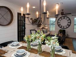 hgtv dining room lighting photos hgtv s fixer upper with chip and joanna gaines hgtv dining