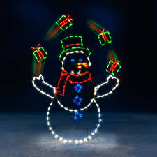 animated outdoor christmas decorations the 5 animated juggling snowman hammacher schlemmer