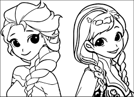 elsa and anna coloring pages to print frozen drawing anna at getdrawings com free for personal use