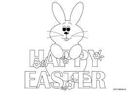 happy easter coloring pages getcoloringpages