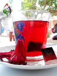 Teh Merah teh celup bunga rosella merah rostea produk bunga rosela
