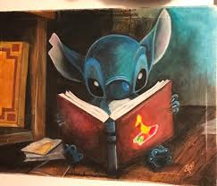 stitch reading ugly duckling book by pastelaestheticart on deviantart
