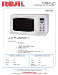 Toaster Oven Dimensions Microwave Oven Users Guides