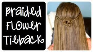 braided flower tieback cute girls hairstyles youtube