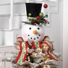 new raz imports 14 plaid snowman top hat tree topper