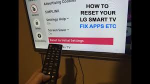 tv l reset how to reset your lg smart tv to factory intial default settings to