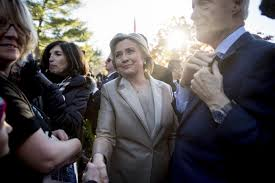 hillary clinton votes near her home in chappaqua with bill in tow