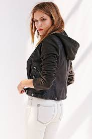 hooded motorcycle jacket vegan leather hooded moto jacket cairoamani com