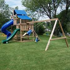 wood swing set kits easy to build and sturdy