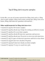 accounting clerk resume examples top8filingclerkresumesamples 150403194025 conversion gate01 thumbnail 4 jpg cb 1428108069