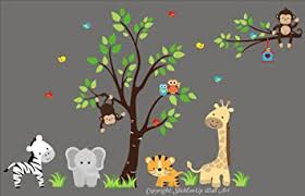 Safari Nursery Wall Decals Baby Nursery Wall Decals Safari Jungle Childrens