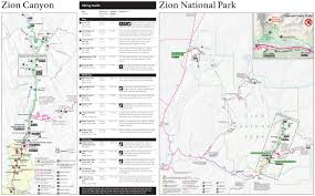 First Landing State Park Map by This Is A Trail Map And Guide Of Zion National Park You Can