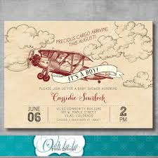 vintage airplane baby shower airplane baby shower invitations linksof london us