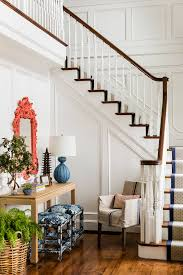 Stark Rug Decorating Banister With Curved Stair And Custom Rug Also Floral