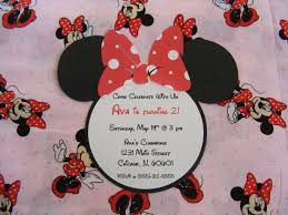 minnie mouse invitations minnie birthday party invitations