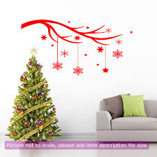 snowflakes tree branch vinyl removable wall art sticker jr decal snowflakes tree branch vinyl removable wall art sticker