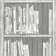 Quirky Bookcase Statement Grey U0026 White Bookcase Wallpaper Clearance Diy At B U0026q