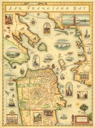San Francisco City Map by San Francisco Bay Map Wooden Jigsaw Puzzle Liberty Puzzles