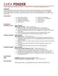 Resume Examples Summary by Best Legal Assistant Resume Example Livecareer