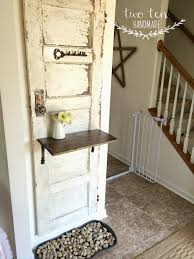 Door Entry Table by Antique Salvaged Door Entry Storage Solution Farmhouse Made