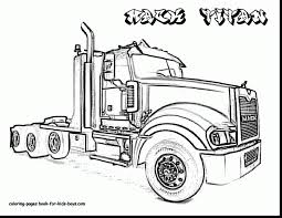 extraordinary color monster truck coloring page with truck