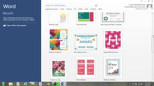 tips for picking an account theme background ms office word 2013