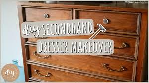 diy bedroom furniture secondhand dresser makeover youtube