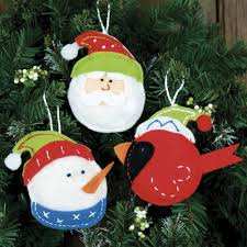 trio felt ornaments kit craft kits at weekend kits