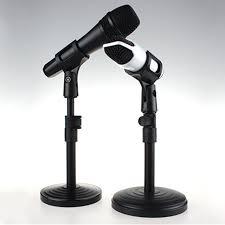 Computer Desk Microphone Foldable Desk Table Tripod Mic Stand Adjustable Angle Folding