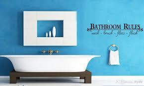Vinyl Walls For Bathrooms Bathroom Rules Wash Brush Floss Flush Art Home Wall Decor Decals