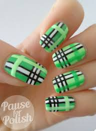 35 gingham and plaid nail art designs art and design