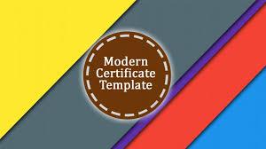 top 3 modern certificate template psd download