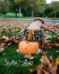 Halloween Baby Cakes by Welcome October Fall Cake Smash San Diego Photographer