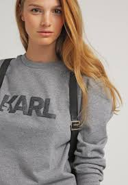 karl lagerfeld women jumpers u0026 cardigans sweatshirt grey melange