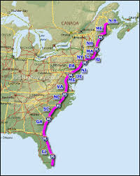 interstate 95 interactive interstate 95 state web site map