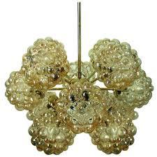 Cascading Glass Bubble Chandelier Amber Bubble Glass Sputnik Chandelier By Helena Tynell For Limburg